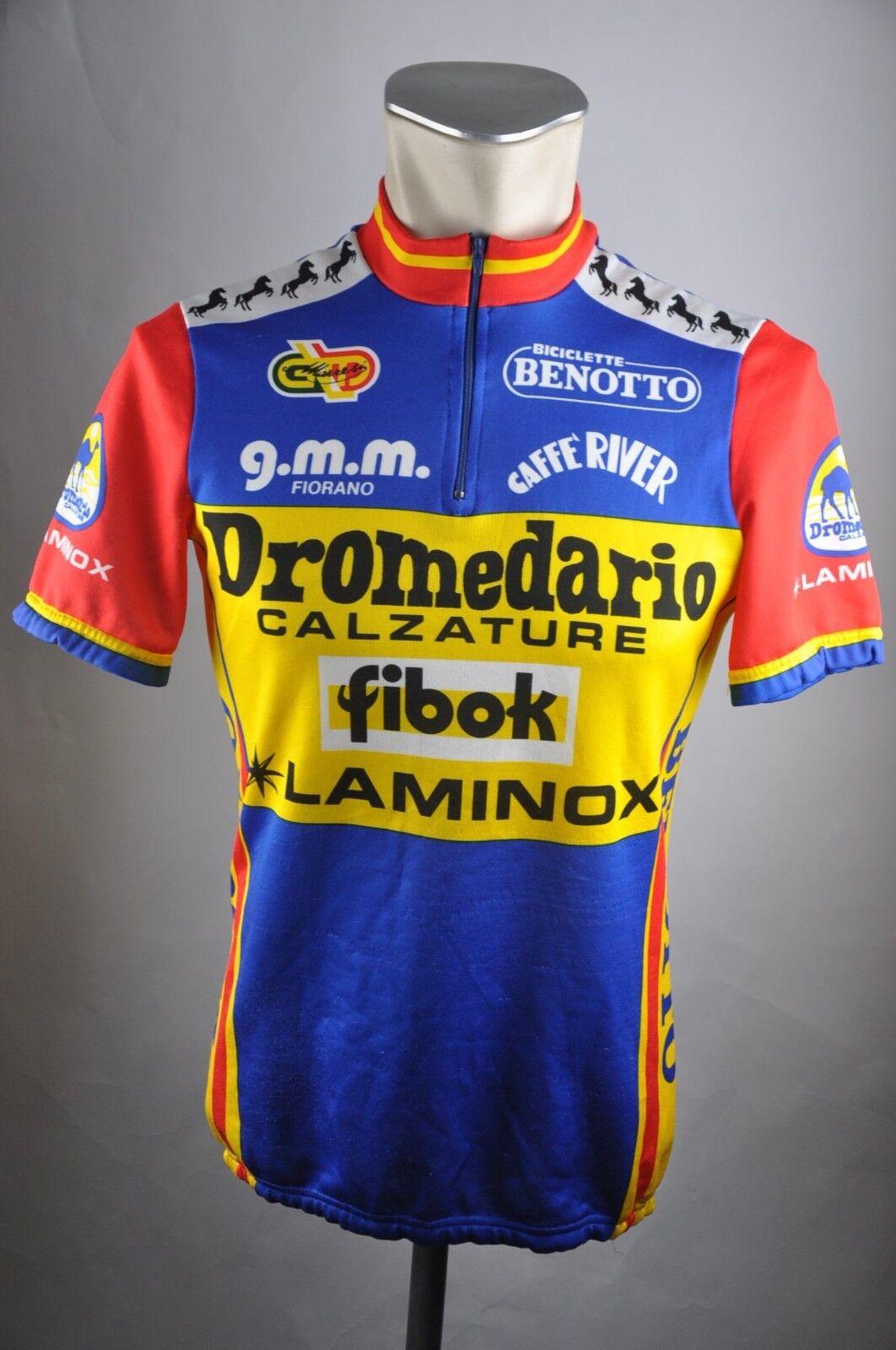 Dromedario Calzature Rad Trikot 80er 1985 Team Gr. L 50cm Bike cycling jersey P4  | New Products