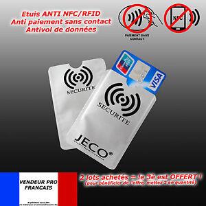 Etui Protection Pour Carte Bleue Credit Nfc Rfid Sans Contact Visa