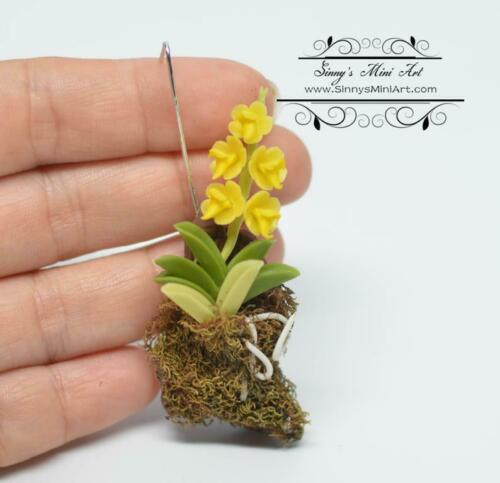 1:12 Dollhouse Miniature Hanging Yellow Orchid// Miniature Gardening BD A056