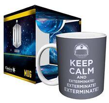 DOCTOR WHO Keep Calm And... Exterminate! Dalek Mug, 11 oz, Boxed, Culturenik
