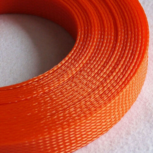 Ø3~40mm Orange Braided Sleeving Cable Harness Sheathing Expanding Sleeve Densely