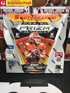 2021 PANINI PRIZM DRAFT PICKS FOOTBALL NFL HOBBY BOX - 5 AUTOGRAPHS - SEALED NEW