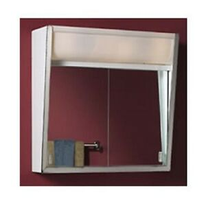 Image Is Loading 24 Inch Lighted Sliding Mirror Medicine Bathroom Cabinet