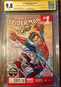 Amazing-Spider-Man-1-A-3rd-Series-CGC-SS-9-8-Signed-STAN-LEE-Ramos-Campbell