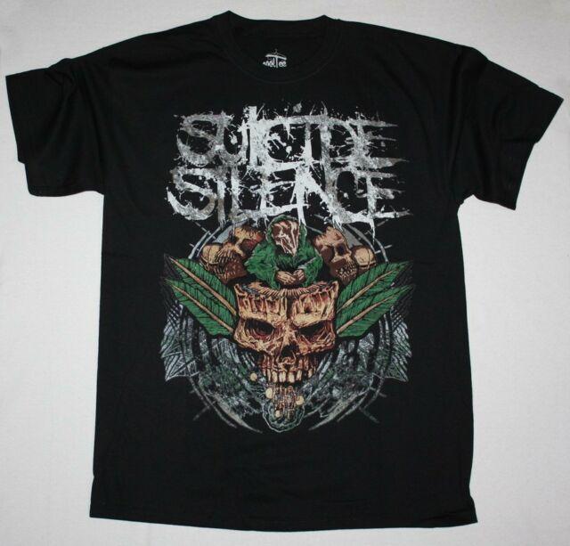 SUICIDE SILENCE PLANT DEATHCORE MITCH LUCKER ANIMOSITY NEW S-XXL  BLACK T-SHIRT