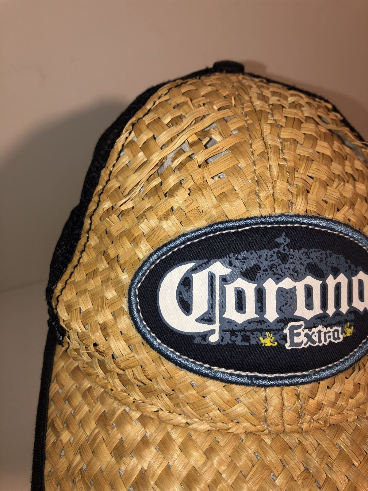 Vintage Corona Extra Beer Straw Woven Beach Cap H… - image 8
