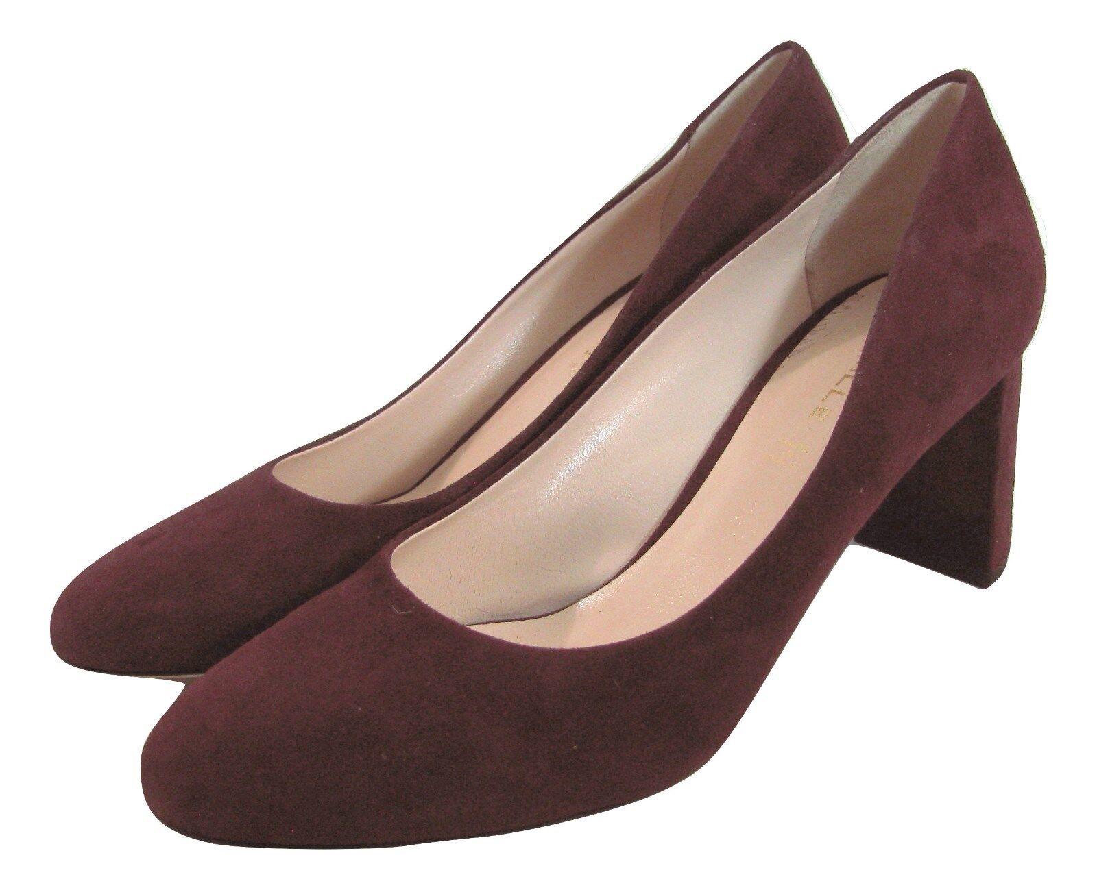 NEU Deimille Burgundy Suede Leder Heels Größe 9   39 ROT Pump Schuhes