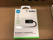 New Belkin Mini DisplayPort to HDMI Adapter- Apple Mac PC compatible - Black