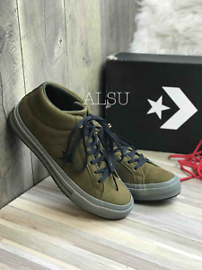 Sneakers-Men-039-s-Converse-One-Star-Suede-Mid-Top-Surplus-Olive-Green