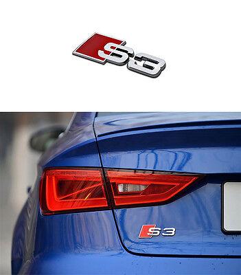 S3 Logo Emblem Schriftzug für Audi Q3 A2 A3 A4 A5 S3 TT Q7