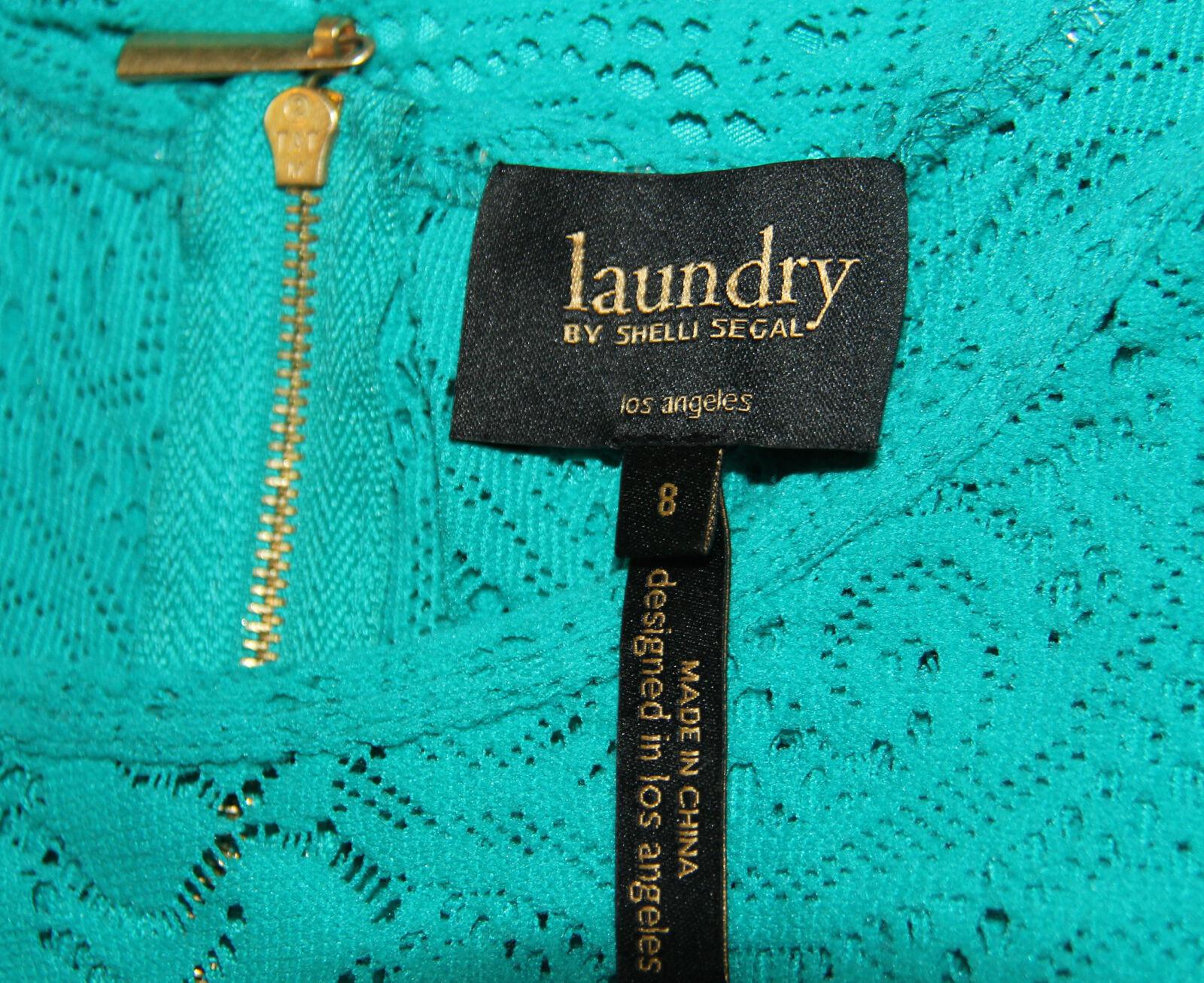 NEW NEW NEW Laundry by Shelli Segal Size 8 Asymmetrical Lace Ruffle Sheath Dress 6ad247
