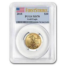 2018 1/4 oz Gold American Eagle MS-70 PCGS (First Strike) - SKU#153162