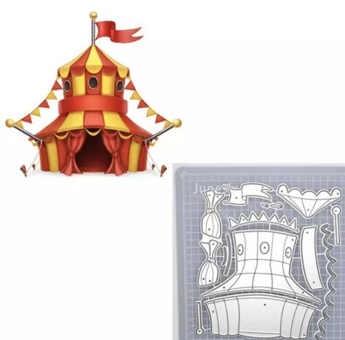 Castle Circus Windmill Metal Cutting Die Scrapbooking Embossing Dies Stencil DIY