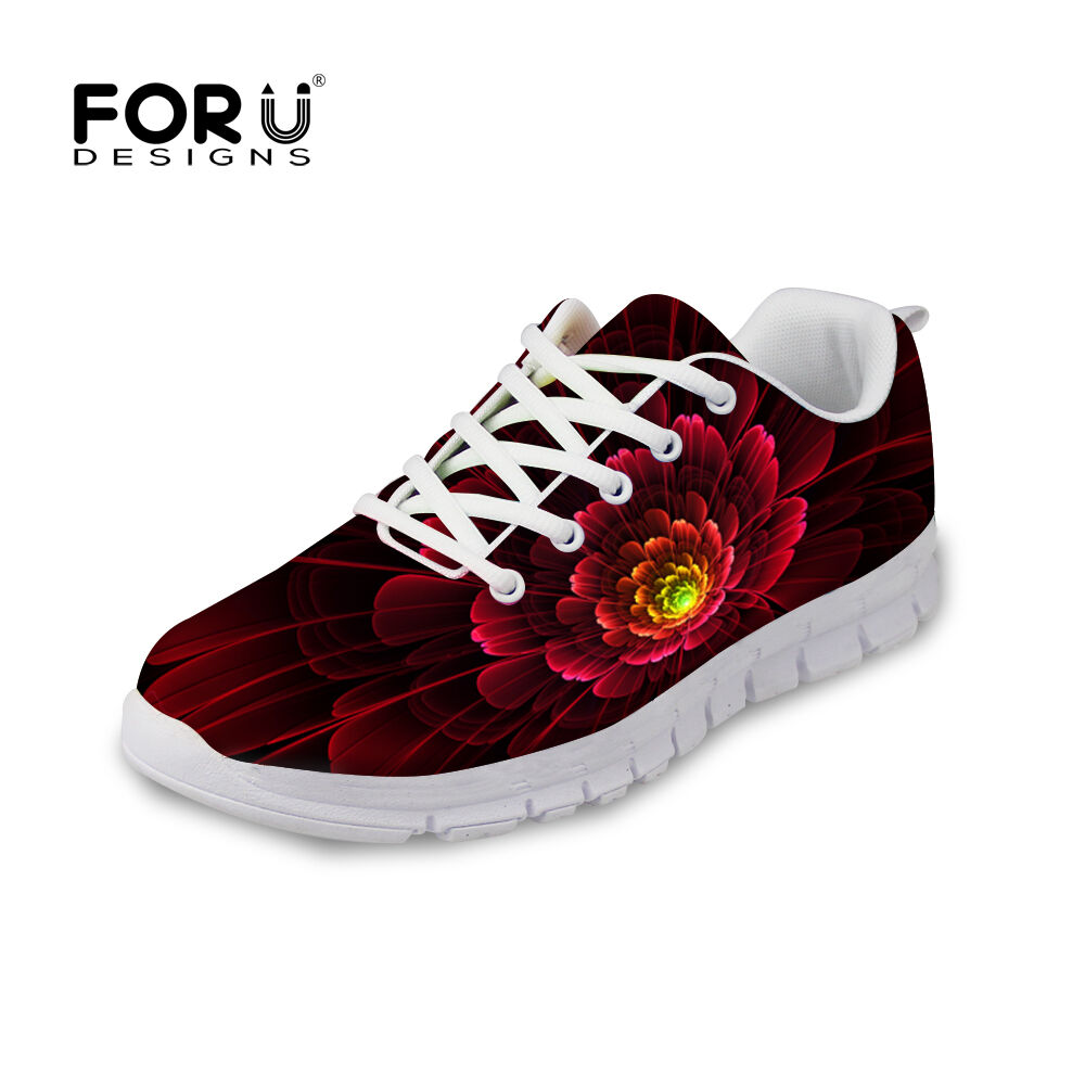 New Floral Ladies Best Running Sneakers Womens Fitness Trainers Sport shoes Size