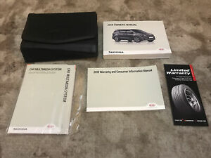 2019 Kia Sedona Owners Manual With Case And Navigation OEM Free Shipping