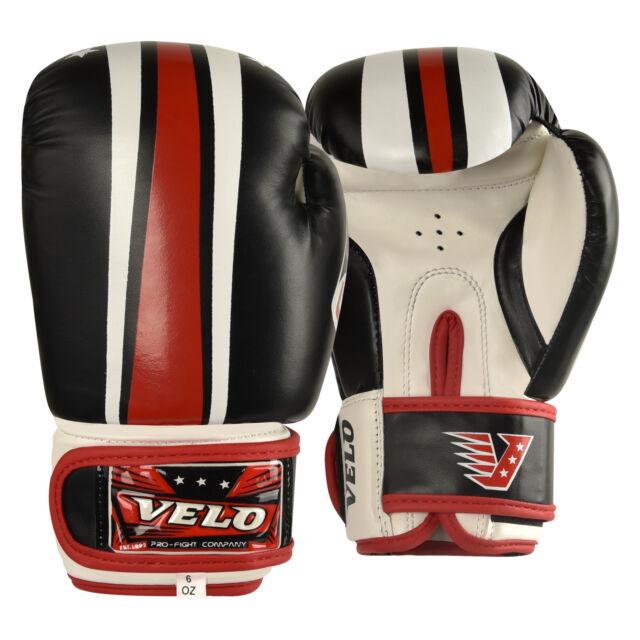 VELO Kids Boxing Gloves 6oz Junior Mitts Punch Bag Children MMA Youth Glove