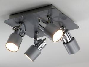Plafoniere Con Spot : Plafoniera moderna lampadario faretti spot orientabili gu grigio