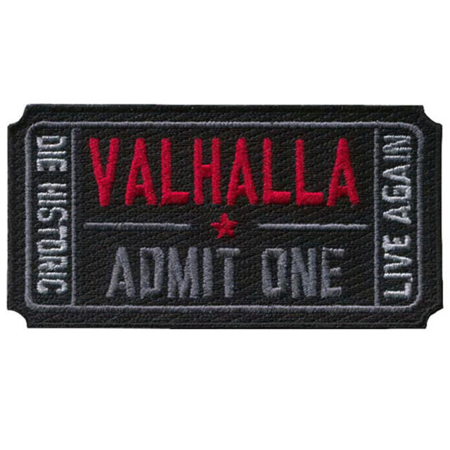 VALHALLA ADMIT ONE TACTICAL ARMY 3D EMBROIDERY MORALE BADGE HOOK PATCH #2