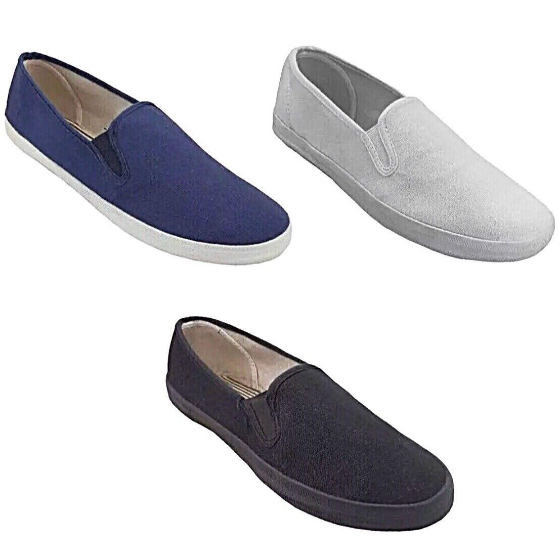 Men's Slip Comfortable Canvas Loafer Deck Slip Men's On Fashion Classic Boat Sneaker Shoe 7635e9