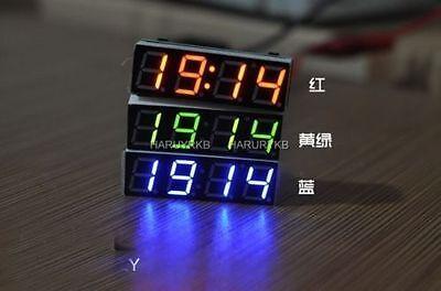 Digital led Time Clock Uhr + Thermometer Temperaturanzeige  + Voltmeter 12v CAR
