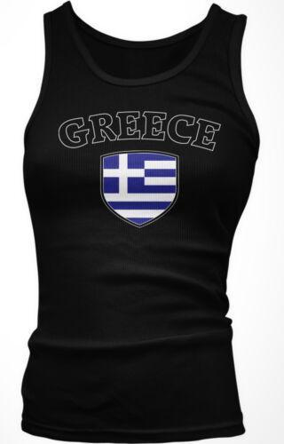 Greece Flag Crest Greek Hellas Ellada National Country Pride Boy Beater Tank Top