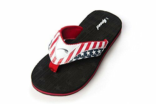 Just Speed Boys Flip Flops Sandals USA American Flag by Comfortable