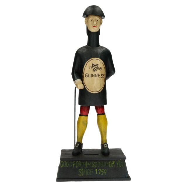 Guinness Man Money Box Bank Stout Beer Brewery Bottle Shaped Figure Statue