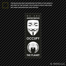 We Are Anonymous Occupy the Planet Sticker Decal Self Adhesive Vinyl 99%
