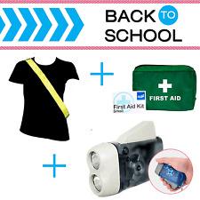 Back to School-Mantieni la sicurezza Sicurezza Kit-HI VIS TELAIO DEL VETRO, KIT di primo soccorso, torcia