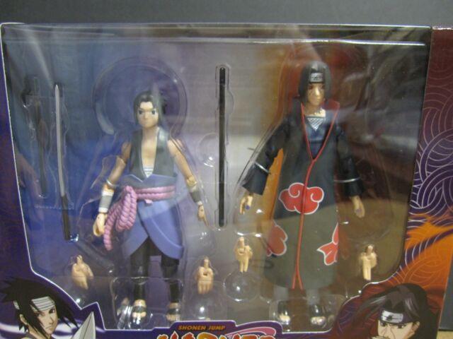 "In-Stock 2018 SDCC Exclusive Naruto Shippuden 4/"" Sasuke Vs Itachi 2 pack Set"