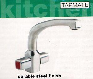 Tapmate Morez One Hole Durable Steel finish 1/4 Turn Handles Kitchen ...