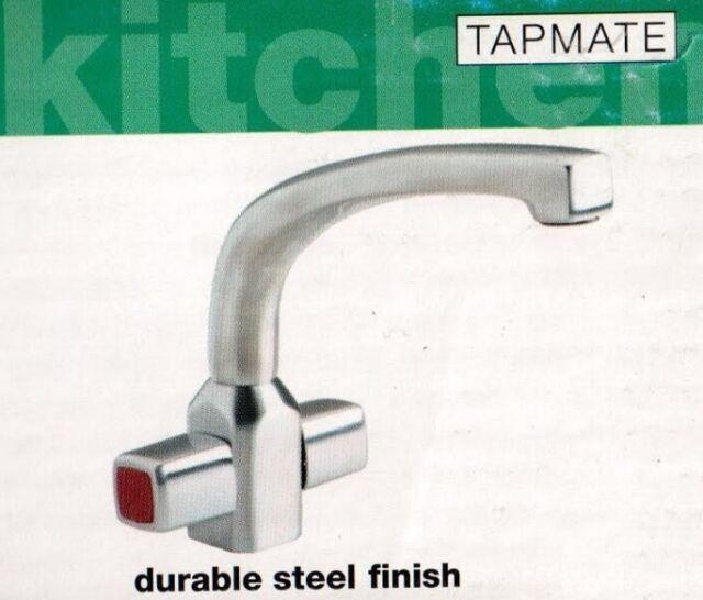 Tapmate Morez 1 Hole Durable Steel Finish 1/4 Turn Handles Kitchen ...