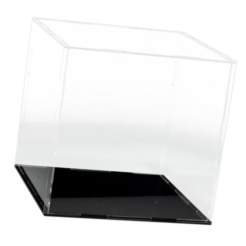 Clear Acrylic Display Case Box Dustproof for Mini Doll Figure Toy 15x15x15cm