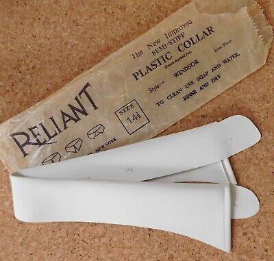 Camicia In Plastica Vintage Colletto Taglia 14.5 Reliant Windsor Inutilizzati-mostra Il Titolo Originale