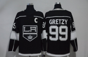 Wayne-Gretzky-Los-Angeles-Kings-99-Men-039-s-Player-Game-Jersey-Stitched