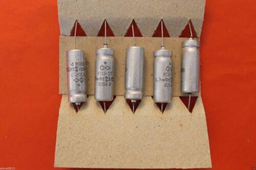 Capacitor aluminum electrolytic K50-27 450V 4.7uF USSR Lot of 15 pcs