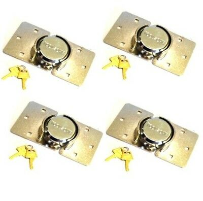 4 x HIGH SECURITY PADLOCK + HASP VAN LOCK + FIXING KIT