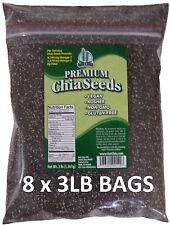 24 POUNDS Premium Black Chia Seed Get Raw Seeds Gluten-Free No GMO Grown Organic