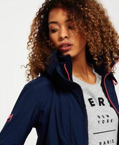 New-Womens-Superdry-Pop-Zip-Hooded-Arctic-SD-Windcheater-Jacket-Nautical-Navy