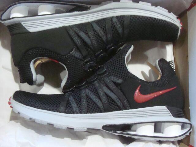 d8f4e25878cf36 Nike Shox Gravity Mens Ar1999-016 Black Red Wolf Grey Running Shoes ...