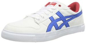 innovative design 52dbf 979fa Details about Mens Onitsuka Tiger A SIST D413N 0142 Casual White Blue Lace  Up Canvas Trainers