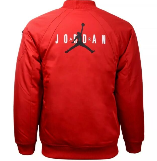 ca06724fa1b Nike Air Jordan Jumpman Bomber Jacket Gym Red Black 954369-rk2 Boys ...