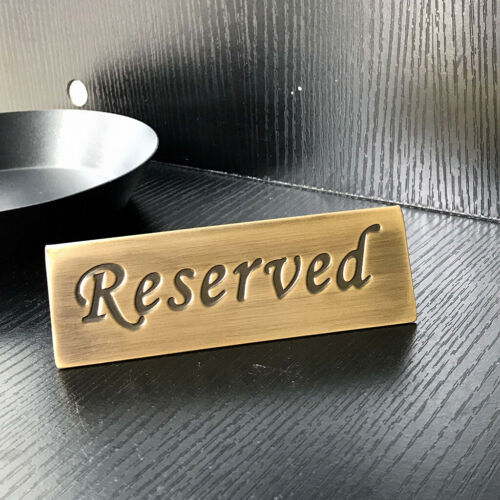 16pieces Reserved Table Sign Wedding Tabletop Decor Stainless Steel 12x4cm