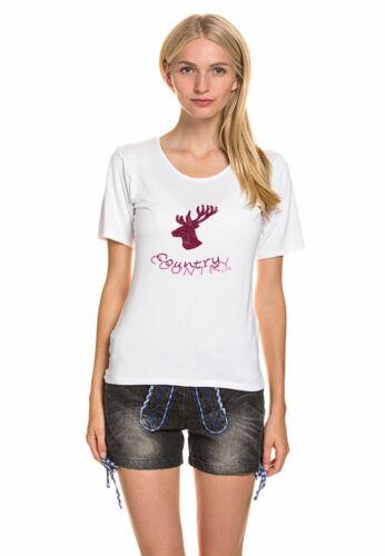 Lekra Damen T-Shirt leicht fallender Viskose Stretch-Anteil Oktoberfest Trachten