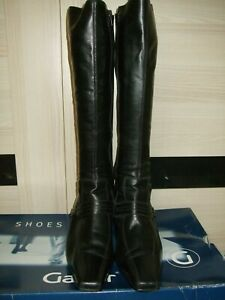 best selling arriving quality Ladies Leather GABOR Black Knee High Boots Size 7 | eBay
