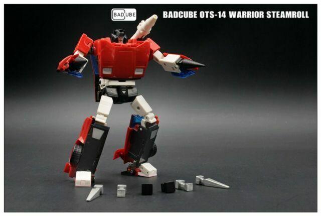 Transformers BadCube OTS-14 Warrior Steamroll G1 Sideswipe Toy In Stock