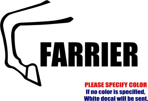 "FARRIER Horse Shoe Graphic Die Cut decal sticker Car Truck Boat Window 12/"""