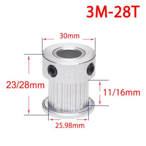 HTD 3M Zahnrad Pulley Riemenscheibe 20T-60T Zahnriemenrad für 15 mm Zahnriemen