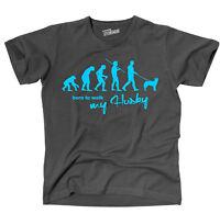 Tevo T-shirt Hunde Evolution Husky Born To Walk Siviwonder