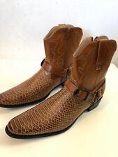 2cf68d84e item 3 Men s Cowboy Boots Western Snake Skin Print Zippper Buckle Harness  Shoes